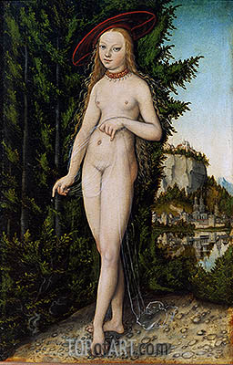 Venus in a Landscape, 1529 | Lucas Cranach | Painting Reproduction
