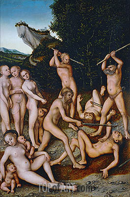 The Silver Age (The Effects of Jealousy), 1535 | Lucas Cranach| Gemälde Reproduktion