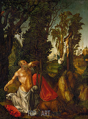 The Penitence of St. Jerome, 1502 | Lucas Cranach| Painting Reproduction