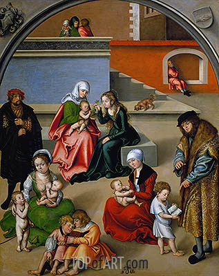 The Holy Kinship, undated | Lucas Cranach| Painting Reproduction