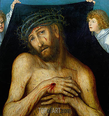 Christ with the Crown of Thorns, 1515 | Lucas Cranach| Painting Reproduction