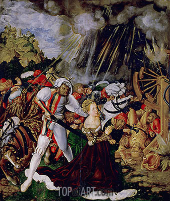 The Martyrdom of St Catherine, c.1504/05 | Lucas Cranach | Painting Reproduction
