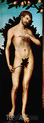Adam, 1533 | Lucas Cranach| Painting Reproduction