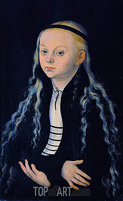 Magdalena Luther, c.1540 | Lucas Cranach| Painting Reproduction