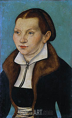 Portrait of Katherine von Bora, 1529 | Lucas Cranach | Painting Reproduction