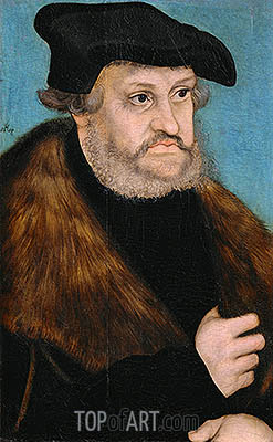 Portrait of Frederick the Wise, Elector of Saxony, c.1525/27 | Lucas Cranach | Painting Reproduction