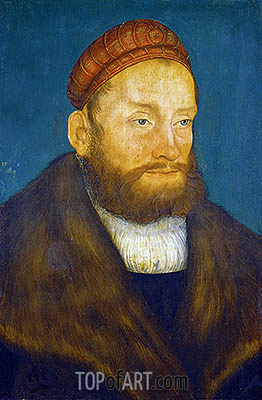 Markgraf Casimir von Brandenburg-Culmbach, 1522 | Lucas Cranach | Painting Reproduction