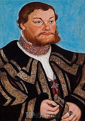Duke Johann II von Anhalt, 1532 | Lucas Cranach | Painting Reproduction
