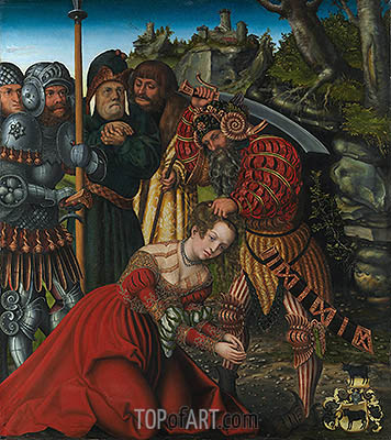 The Martyrdom of Saint Barbara, c.1510 | Lucas Cranach| Painting Reproduction