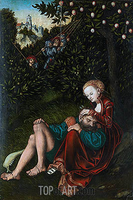 Samson and Delilah, undated | Lucas Cranach | Painting Reproduction