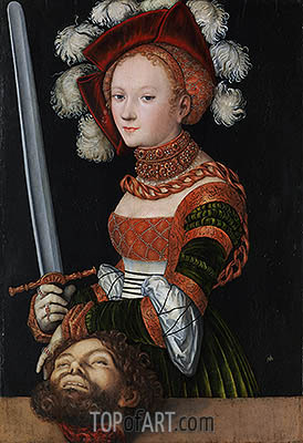 Judith with the Head of Holofernes, c.1530 | Lucas Cranach | Gemälde Reproduktion
