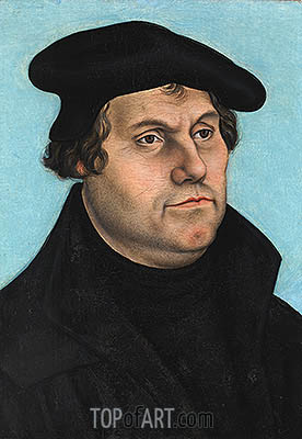 Martin Luther, undated | Lucas Cranach| Painting Reproduction