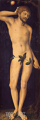 Adam, 1528 | Lucas Cranach | Painting Reproduction