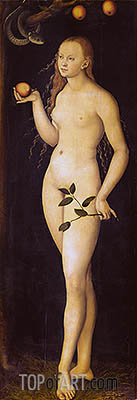 Eve, 1528 | Lucas Cranach| Painting Reproduction