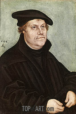 Portrait of Martin Luther, 1533 | Lucas Cranach| Painting Reproduction