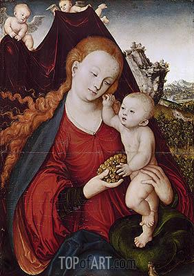 Lucas Cranach | Madonna of the Grapes, c.1525
