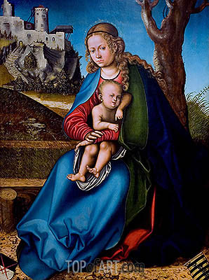 Virgin and Child, c.151314 | Lucas Cranach | Painting Reproduction