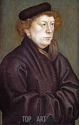 Portrait of a Scholar, c.1515 | Lucas Cranach| Painting Reproduction