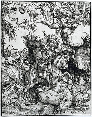 St. George Slaying the Dragon, c.1510/15 | Lucas Cranach| Gemälde Reproduktion