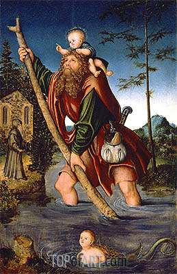 Saint Christopher, 1518/20 | Lucas Cranach | Painting Reproduction