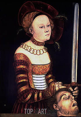 Judith with the Head of Holofernes, c.1537/40 | Lucas Cranach| Painting Reproduction
