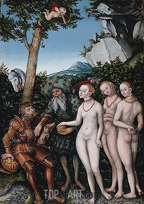 Judgment of Paris, 1530 | Lucas Cranach | Painting Reproduction