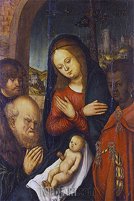 The Adoration of the Kings, undated | Lucas Cranach| Painting Reproduction