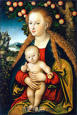 The Virgin and Child under an Apple Tree, c.1520/26 | Lucas Cranach| Painting Reproduction