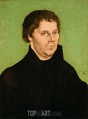 Portrait of Martin Luther, 1525 | Lucas Cranach| Painting Reproduction