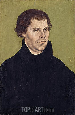 Portrait of Martin Luther, Aged 43, 1525 | Lucas Cranach | Gemälde Reproduktion