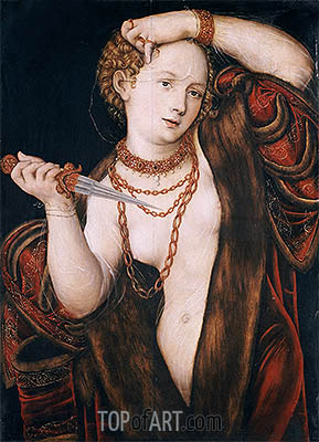 Lucretia, a.1537 | Lucas Cranach | Painting Reproduction