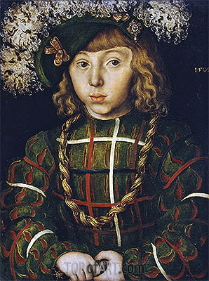 Lucas Cranach | Portrait of Johann Friedrich the Magnanimous, 1509