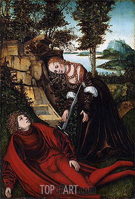 Pyramus and Thisbe, c.1515/20 | Lucas Cranach| Painting Reproduction