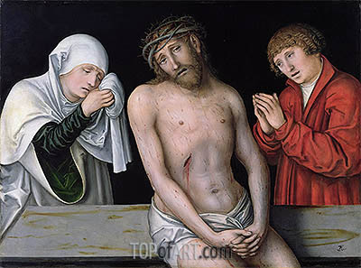 Christ as the Man of Sorrows with the Virgin and St. John, undated | Lucas Cranach| Painting Reproduction