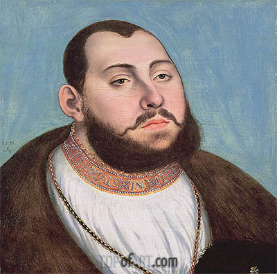 Portrait of John Frederic the Magnanimous Elector of Saxony, 1533 | Lucas Cranach| Painting Reproduction