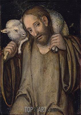 Der Gute Hirte, undated | Lucas Cranach | Gemälde Reproduktion