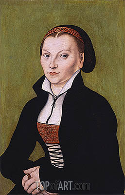 Portait of Katharina von Bora, undated | Lucas Cranach| Painting Reproduction