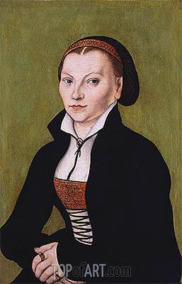 Portait of Katharina von Bora, undated | Lucas Cranach | Painting Reproduction