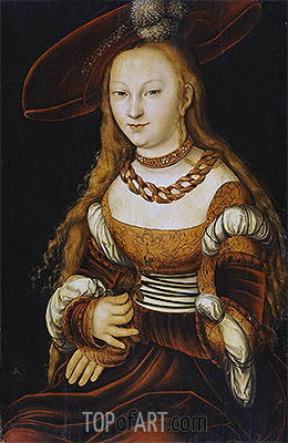 Portrait of a Young Lady, c.1350 | Lucas Cranach| Painting Reproduction