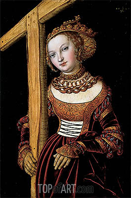 Saint Helena with the True Cross, 1525 | Lucas Cranach | Painting Reproduction