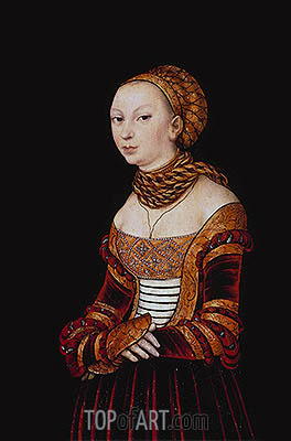 Portrait of a Young Woman, 1525 | Lucas Cranach| Painting Reproduction