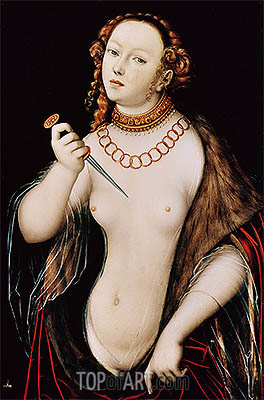 The Suicide of Lucretia, c.1525/50 | Lucas Cranach | Gemälde Reproduktion