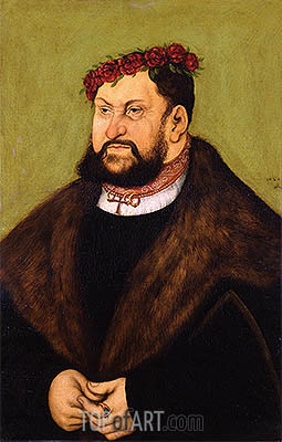 Portrait of John I the Steadfast, Elector of Saxony, 1526 | Lucas Cranach | Painting Reproduction