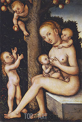 Charity, undated | Lucas Cranach | Painting Reproduction