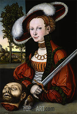 Judith with the Head of Holofernes, 1530 | Lucas Cranach| Gemälde Reproduktion