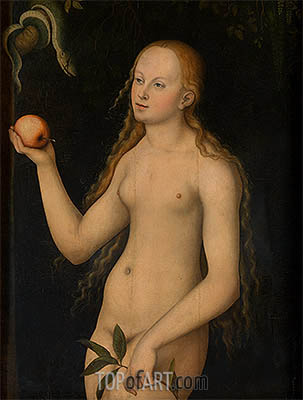 Eve, undated | Lucas Cranach | Painting Reproduction