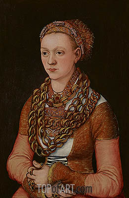 Portrait of Anna Buchner, c.1518/20 | Lucas Cranach| Painting Reproduction