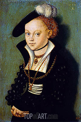 Christiane Eulenau, 1534 | Lucas Cranach| Painting Reproduction