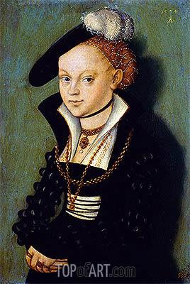 Christiane Eulenau, 1534 | Lucas Cranach | Painting Reproduction