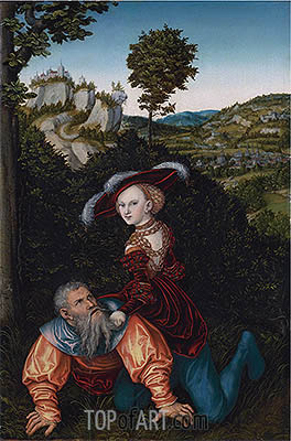 Phyllis and Aristotle, 1530 | Lucas Cranach| Painting Reproduction